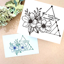 11*9 Praising Words Flower Transparent Clear Silicone Stamp Seal for DIY Scrapbooking Photo Album Decorative Clear Stamps Sheet