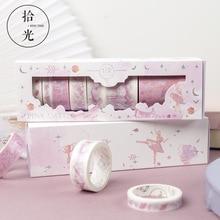 8pcs/lot Star Cartoon Castle Cute Paper Masking Washi Tape Set Japanese Stationery Scrapbooking Supplies
