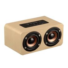 Vintage Portable W5 Stereo 3.5mm AUX Support TF Card Play Outdoor Music Dual Speaker Loudspeaker for Gift(China)