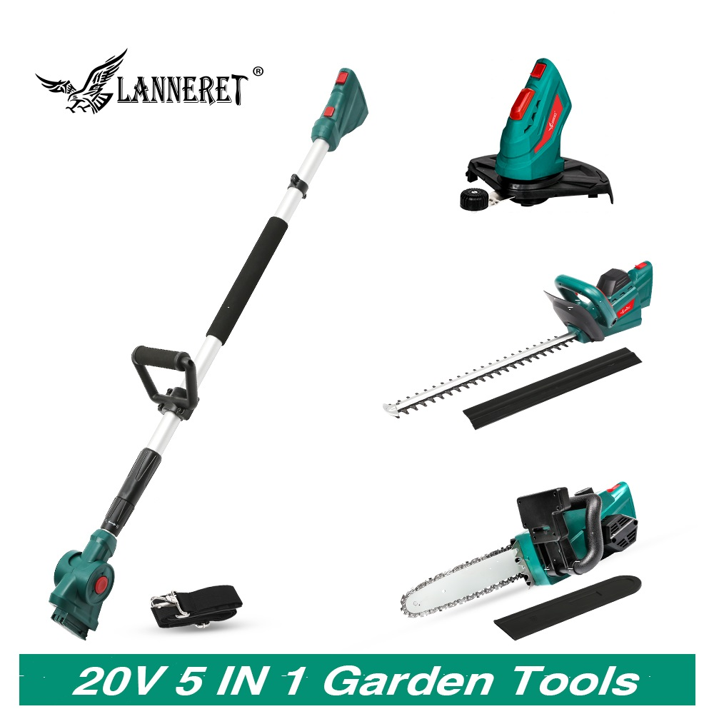 20V No Battery Chain Saw Cordless Grass Trimmer Cordless Hedge Trimmer With Telescopic Pole Household Garden Tool Set
