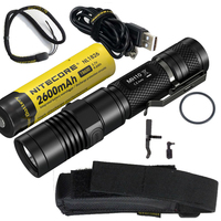 USB Rechargeable Flashlight NITECORE MH10 7 Modes max.1000 lume beam distance 232 meter LED Flash light + 18650 2600mAh battery