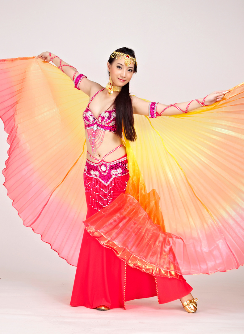 Image 4 - 2018 Newest Gradient Colors Egyptian Belly Dance Costume Professional Dancing Isis Wings (not stick)  9 Colors Availabledance isis wingsisis wingsbelly dance costumes -