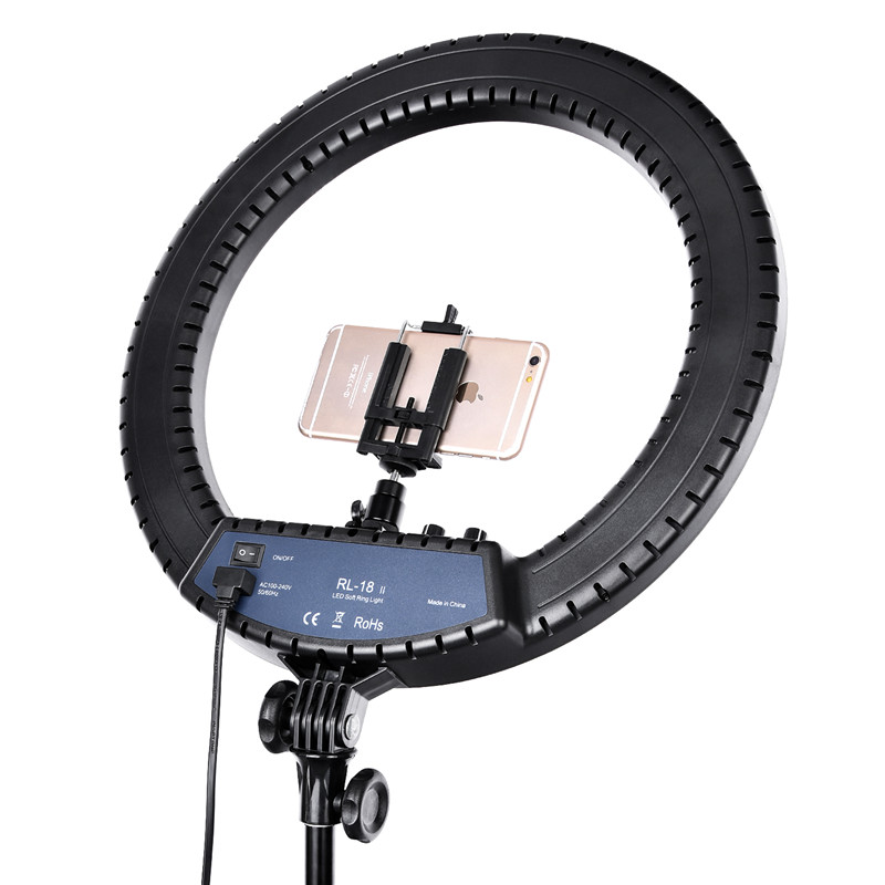 H5e2900acfa354ee7bc42a2cea7d330dbO FOSOTO RL-18II Ring Lamp 18 Inch Photographic Lighting Ringlight 512Pcs Led Ring Light With Tripod Stand For Camera Phone Makeup