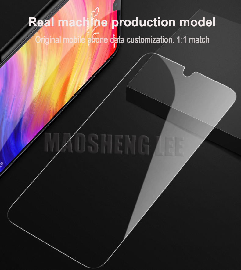 Image 5 - 2Pcs/lot Full Tempered Glass For Xiaomi Redmi Note 5 7 Pro Screen Protector 9H Anti Blu ray Toughened glass For Redmi Note 7 Pro-in Phone Screen Protectors from Cellphones & Telecommunications