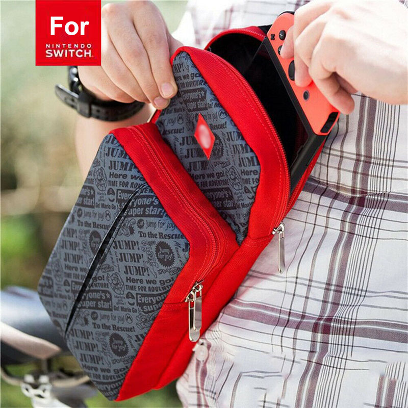 Crossbody Bag for Nintendo Switch Travel Carry Case Shoulder Storage Bag for Console & Dock Game Accessories Protective Bags 1