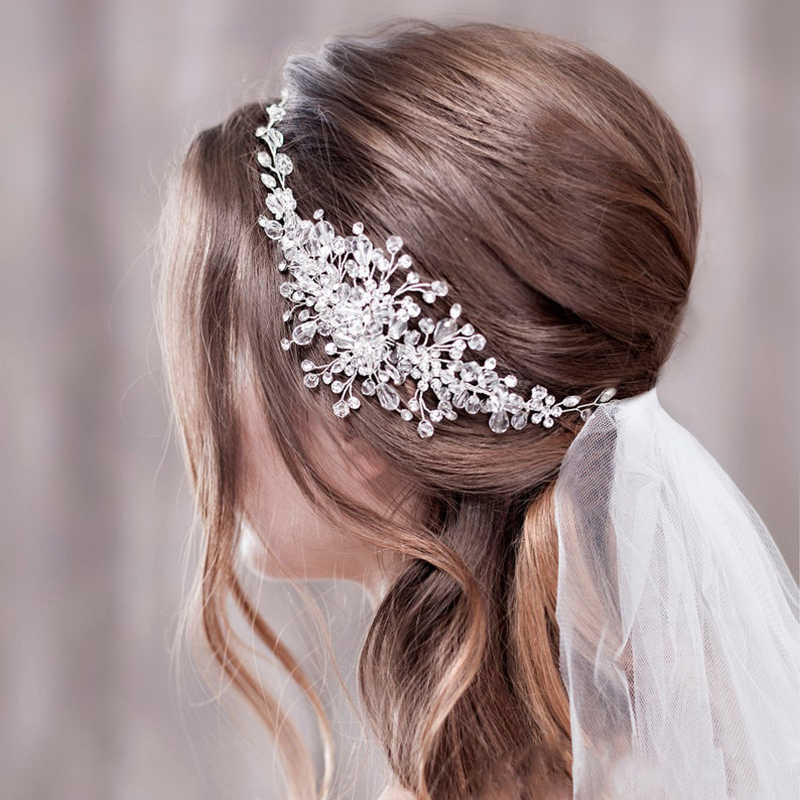 Wedding Headbands For Bride Hair Accessories Pearl Rhinestone Bridal Tiara Flower Wedding Headband Headpiece Women Accessories Hair Jewelry Aliexpress