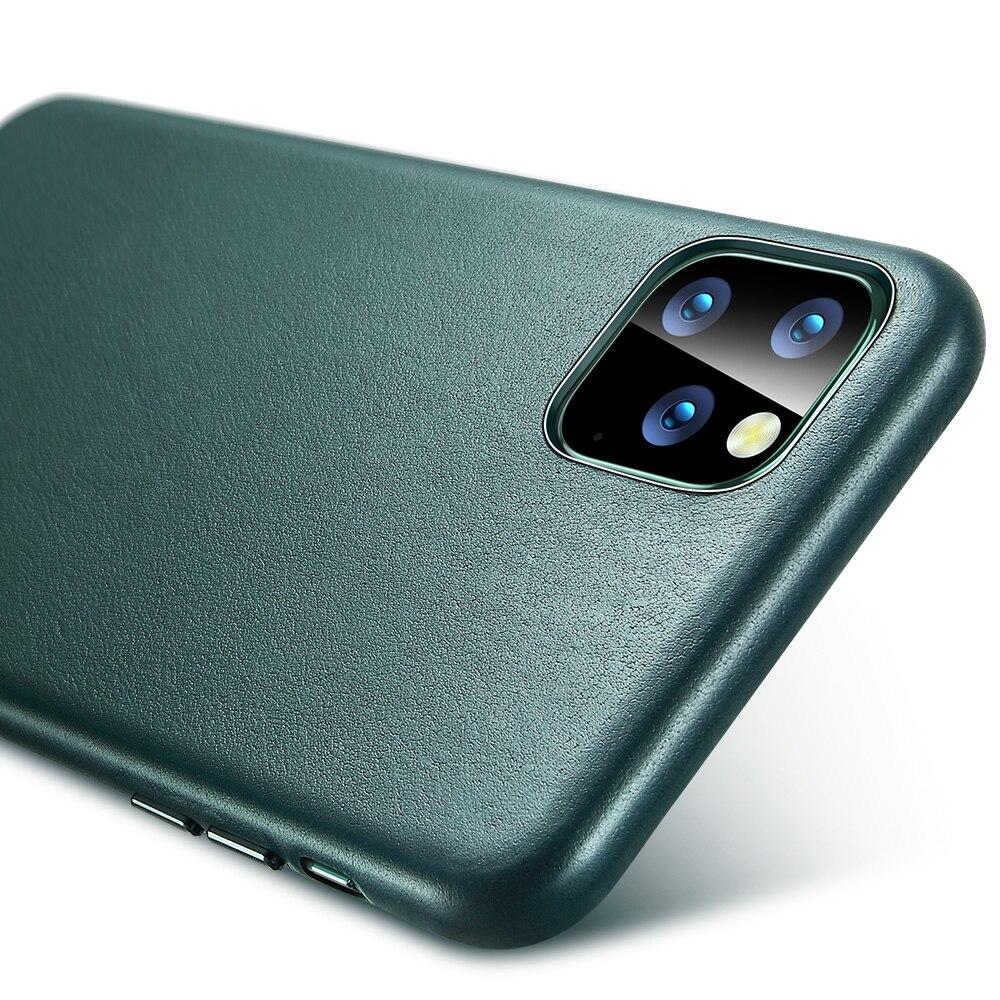 H5e295724cac7474aa8482a44251b4a9bp ESR Case for iPhone 11 Pro Max Leather Case Cover Brand Black Green Genuine Leather Protective Cover for iPhone 11 2019 11pro
