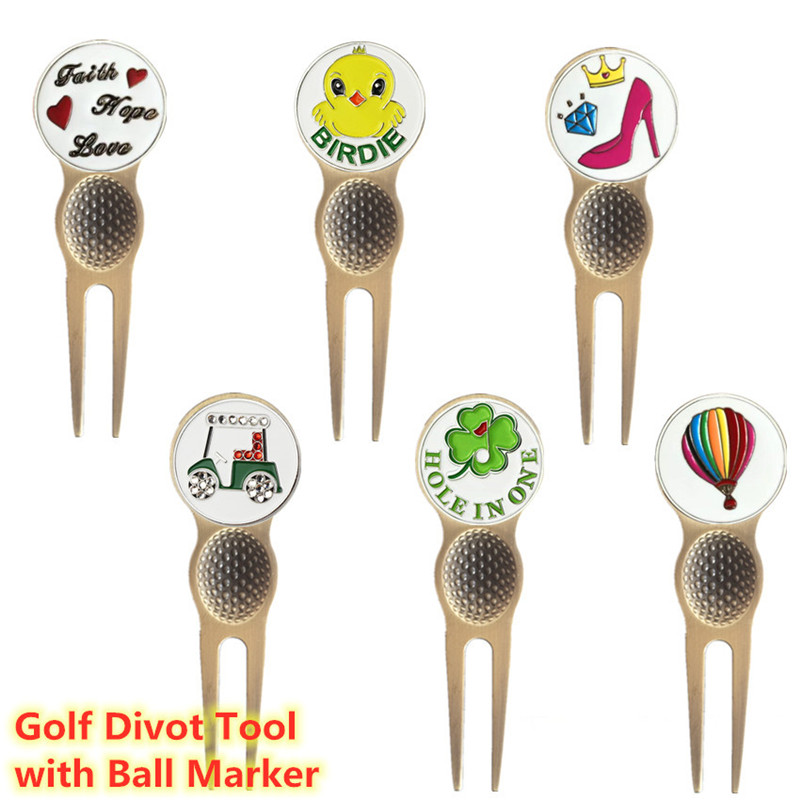Finger Ten Golf Divot Repair Tool Magnetic Metal With Ball Marks Putting Pitch Outdoor Accessories Training Aid Tools Wholesale