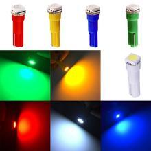 цена на Hot Selling 10Pcs  T5  5050 SMD LED Car Board Instrument Panel Lamp Auto Dashboard Warming Indicator Wedge Light Bulb DC12V