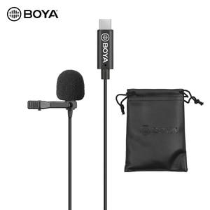 Image 1 - BOYA Omnidirectional MIC SINGLE HEAD Lavalier Lapel ไมโครโฟน 6 เมตรใช้งานร่วมกับ USB Type C