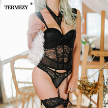 TERMEZY Sexy Lace Bustier Women Push Up Corset Femme Lingerie High Elastic Gothic Corsets Bustiers