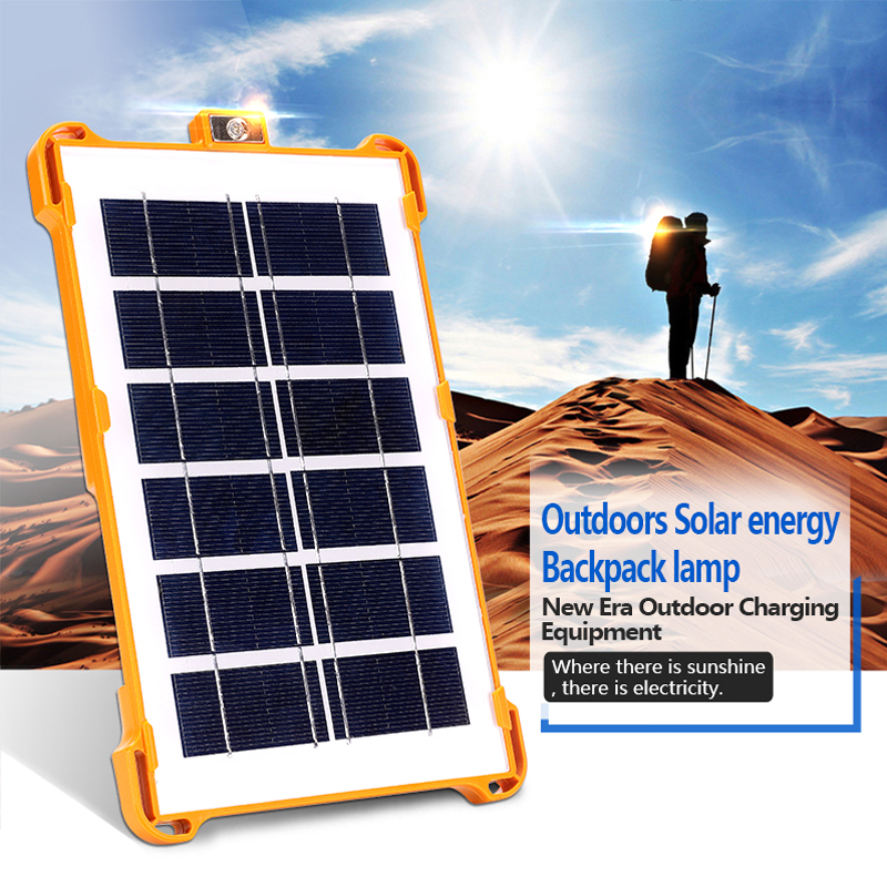 Portable LED Solar Power Light Outdoor Charging Emergency Camping Tent Waterpfoor Multifunctional Backpack Lamp Courtyard Lights