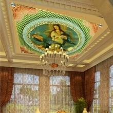 Envío Directo foto papel tapiz europeo arquitectura techo pintura famosa mundial Mural salón decoración papel tapiz