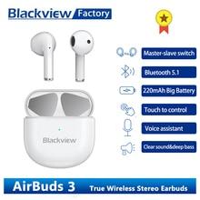 Blackview AirBuds 3 TWS אוזניות מגע בקרת אוזניות עם מיקרופון Bluetooth 5.1 פעיל רעש ביטול אוזניות אוזניות