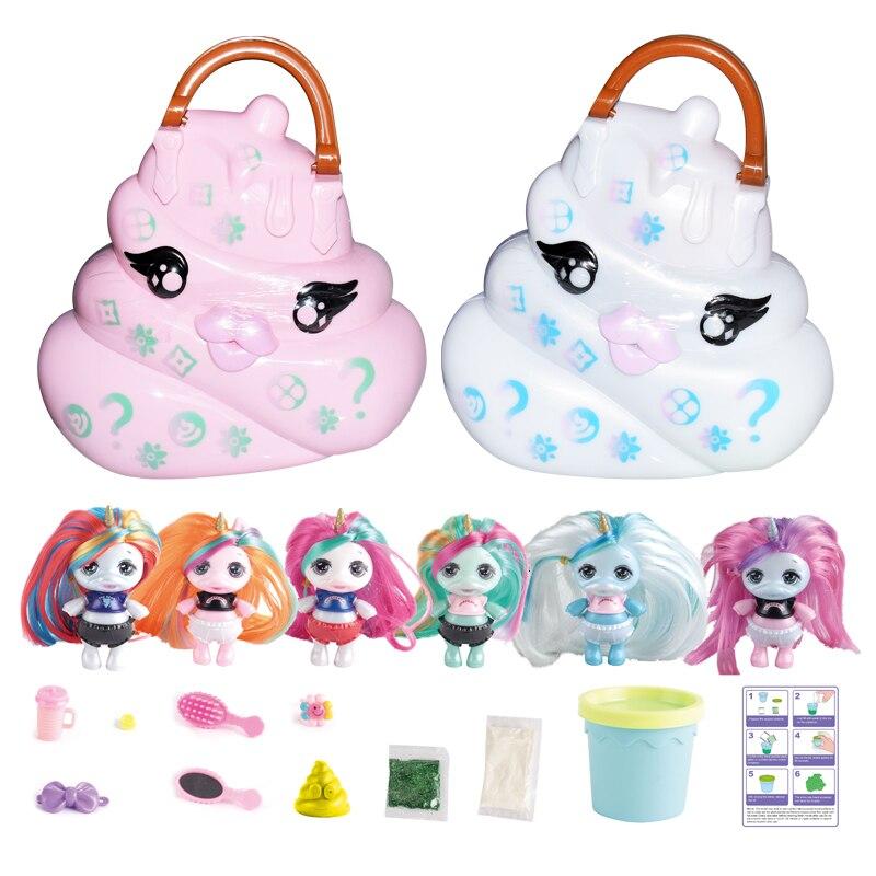 2 Styles Random Colors Reprint Poopsie Verrasing Eenhoorn Kak Shakes Slime Blind Doos Speelgoed Voor Kinderen сквиши Squishy