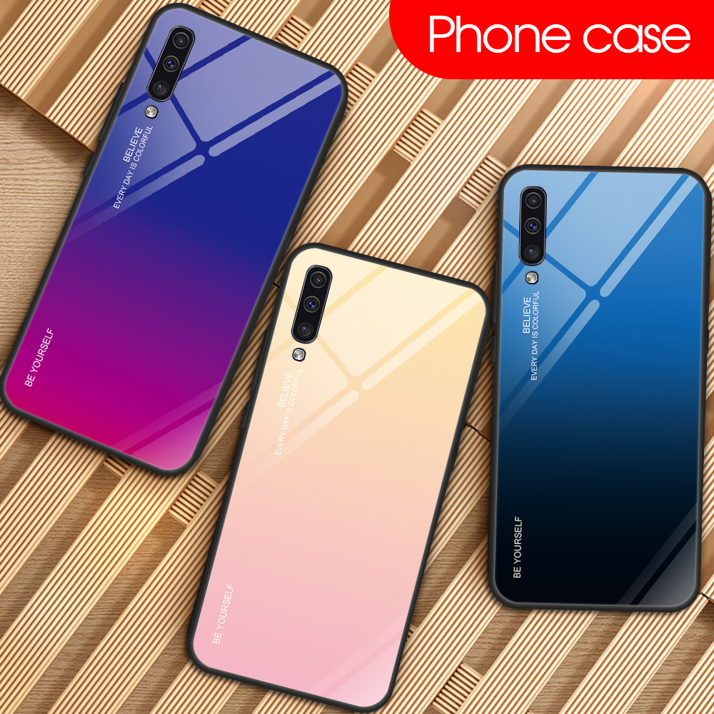 Fashion Gradient Phone Case For Samsung Galaxy A10 A20 E A30 S A40 A60 A50 A70 A80 M30 M10 M20 A8 A7 A5 2017 Hard Cover Housing image
