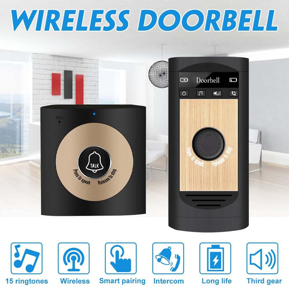 Doorbell Intelligent Wireless Intercom Doorbell Waterproof 200M Remote Security Door Bell USB Rechargeable Home Security