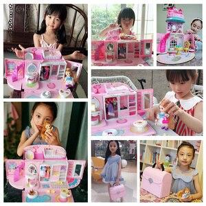 Image 3 - Bebek evi el çanta aksesuarları sevimli mobilya minyatür Dollhouse doğum günü hediyesi ev modeli oyuncak ev oyuncak bebekler çocuklar için