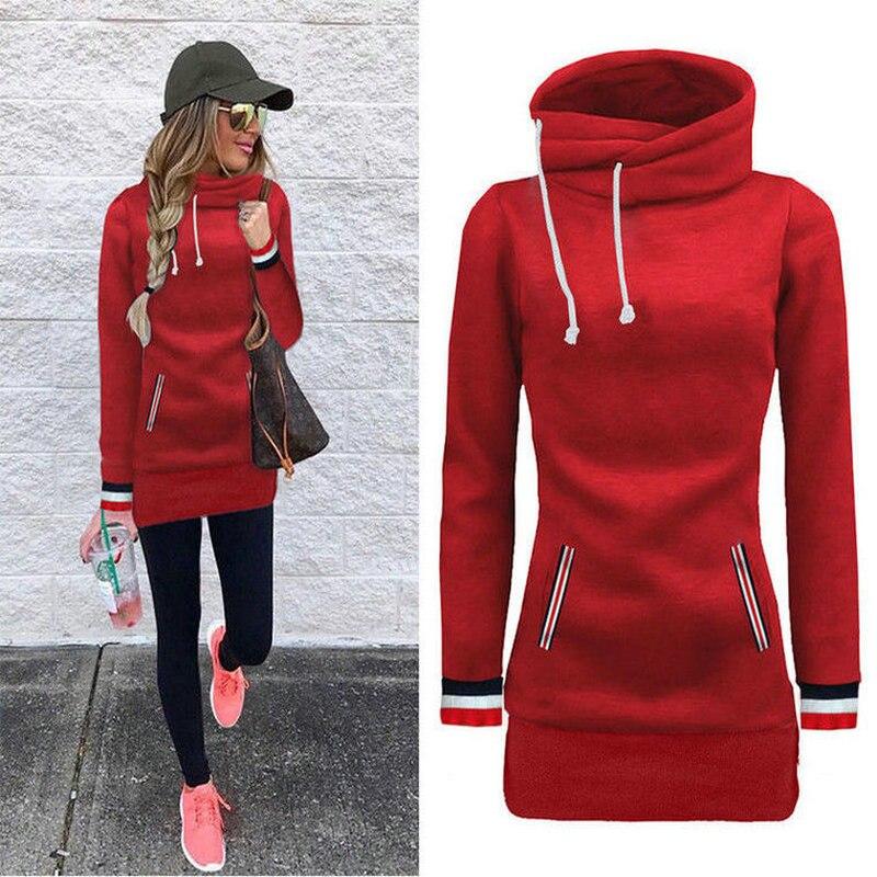 2019 Autumn Winter Long Sleeves Fleece Pullovers Hooded Sweatshirts Fashion Hoody Hoodies Sweatshirt Women's Clothing Coat PL35