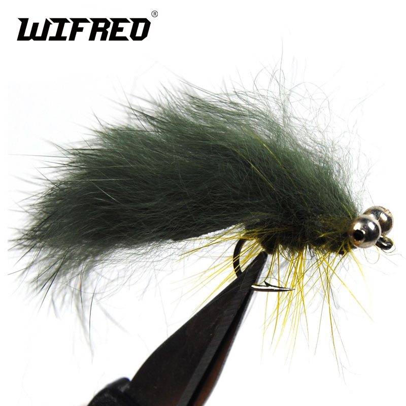 Cats Whisker Zonker Lure 6 Green And White Trout Fly