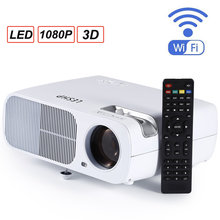 Full HD Projector 2600 lumen 800x 480Dpi HDMI LED for 1080P Video beamer Home Media Player Office White