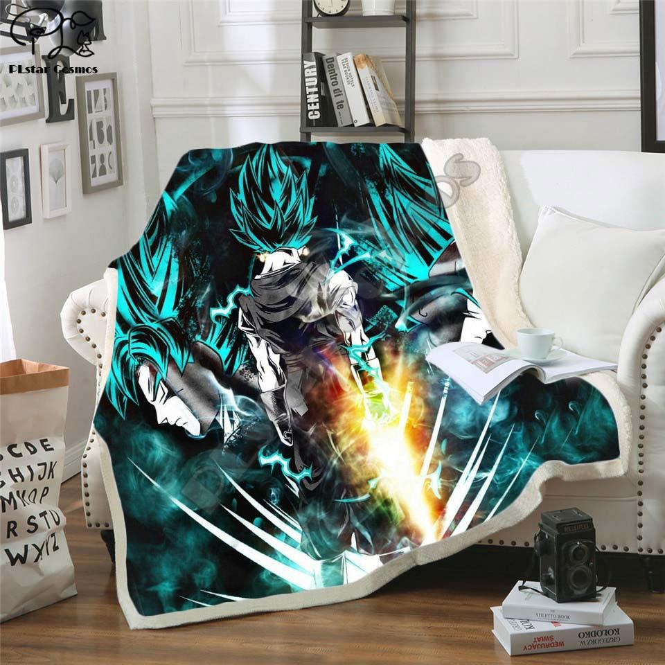 Newest Anime Dragon Ball 3D Printed Sherpa Blanket Couch Quilt Cover Travel Bedding Outlet Velvet Plush Throw Fleece Blanket 04