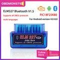 ELM327 Bluetooth V1.5 PIC18F25K80 OBD2 сканер ELM 327 Bluetooth Android/ПК крутящий момент Автомобильное устройство чтения кода OBD2 bluetooth-адаптер 1,5