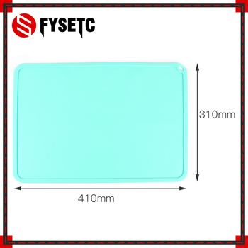 Silicone Slap Mat Blue/Gray 410*310mm Clean-up Or Resin Transfer To Protect Work Surface For DLP SLA 3D Printer Accessories