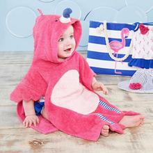 Роза мультфильм антибактериальные хлопковые полотенца детское махровое полотенце Спорт на открытом воздухе полотенце для бассейна с фламинго