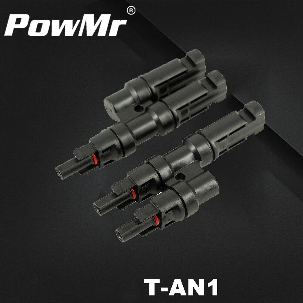 Um par multi t ramo sola conector para conexão de painel solar conector macho e fêmea um a dois combinador novo