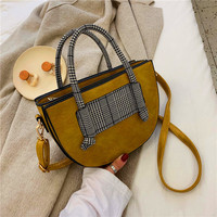 Fashion Women Handbags Top handle Embroidery Crossbody Bag Shoulder Bag Lady Simple Style Hand Bags Tassel PU Leather Totes Bag