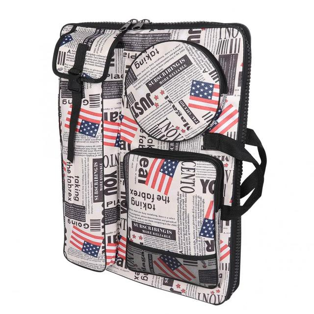 Многофункциональная водонепроницаемая сумка для рисования, удобная уличная сумка для эскизов с ремешком, принадлежности для рисования