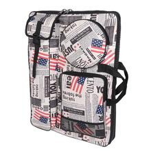 Multifunction Waterproof Painting Bag Convenient Outdoor Sketch Bag with Strap Painting Supply