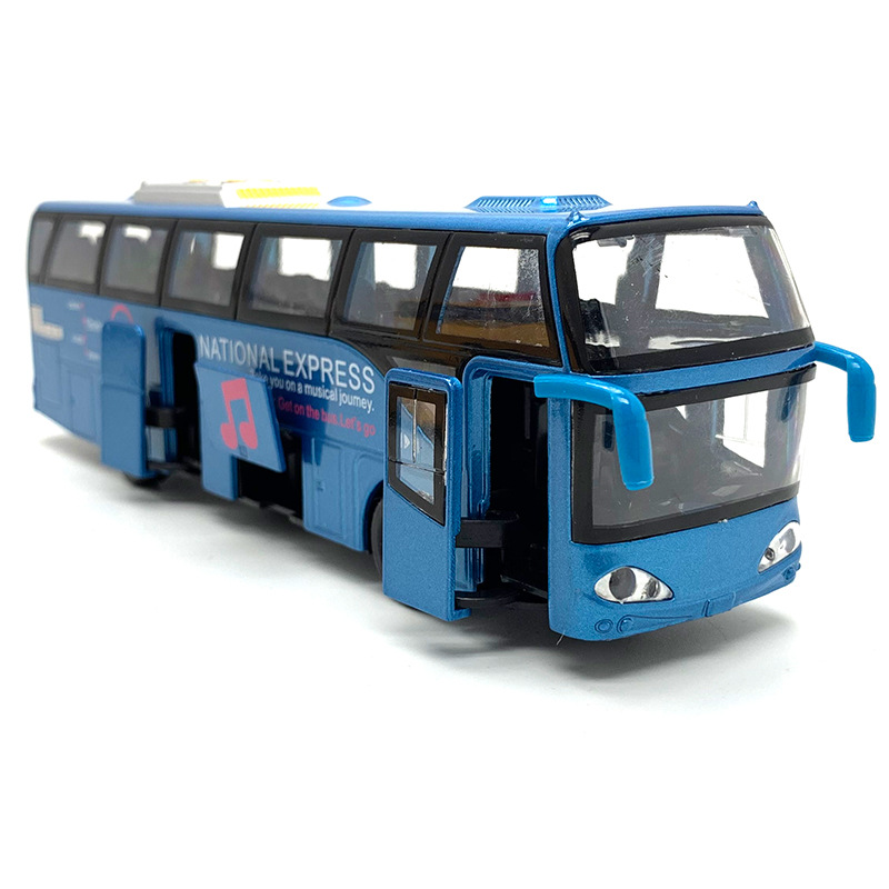 1:32 Alloy Car Models,High Simulation City Bus,Diecast, Toy Vehicles, Pull Back & Flashing & Musical Pocket Decoration Interest