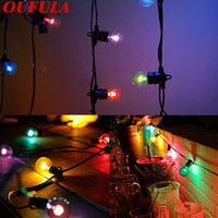 OUFULA Solar Light Strings Waterproof Christmas Day Outdoor Garden Decoration Lantern Landscape Light 25bulbs