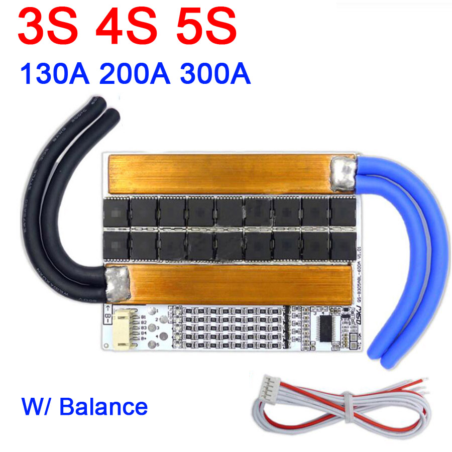 3S 4S 5S 130A 200A 300A 3.2V Li-ion Lipo LifePo4 Lithium Protection Board High Current Inverter BMS Motorcycle car start NEW image