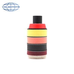 Image 4 - Kit de pulido de taladro, almohadillas de pulido de 2 pulgadas, 4 Uds. Incluyen bandeja roja M14, esponja para encerar detalles, pulidor de coche
