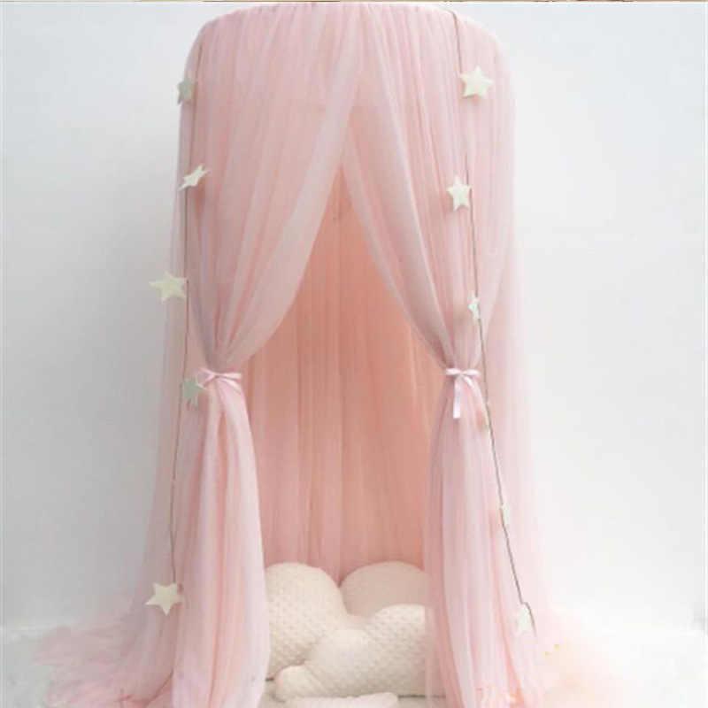 Klamboe Bed Gordijn Baby Luifel Tent Baby Crib Netten Cot Hung Dome Meisje Prinses Kinderen Spelen Tent Kinderkamer decoratie