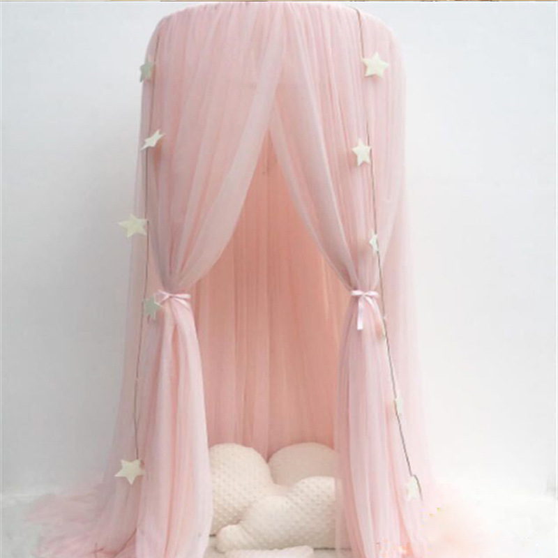 mosquiteiro cortina de cama do bebe dossel tenda berco do bebe rede berco pendurado cupula menina