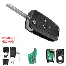 цена на 434MHz Keyless Uncut Flip Remote Key Fob ID46 Chip for 2010-2015 Astra J / 2014-2016 Corsa E / 2009-2015 Insignia / 2012-2016