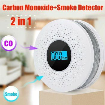Smoke And Carbon Monoxide Detector  2in1 Carbon Monoxide Smoke Alarm Fire Alarm Safe System Smoke CO Alarm Detector Smoke Alarm smoke