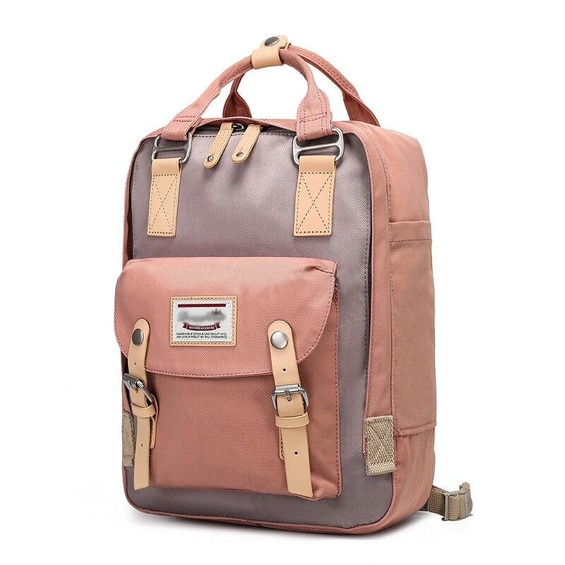 Canvas Bag Doughnut Backpack Travel-Bag Oxford Female Korean School Primary New