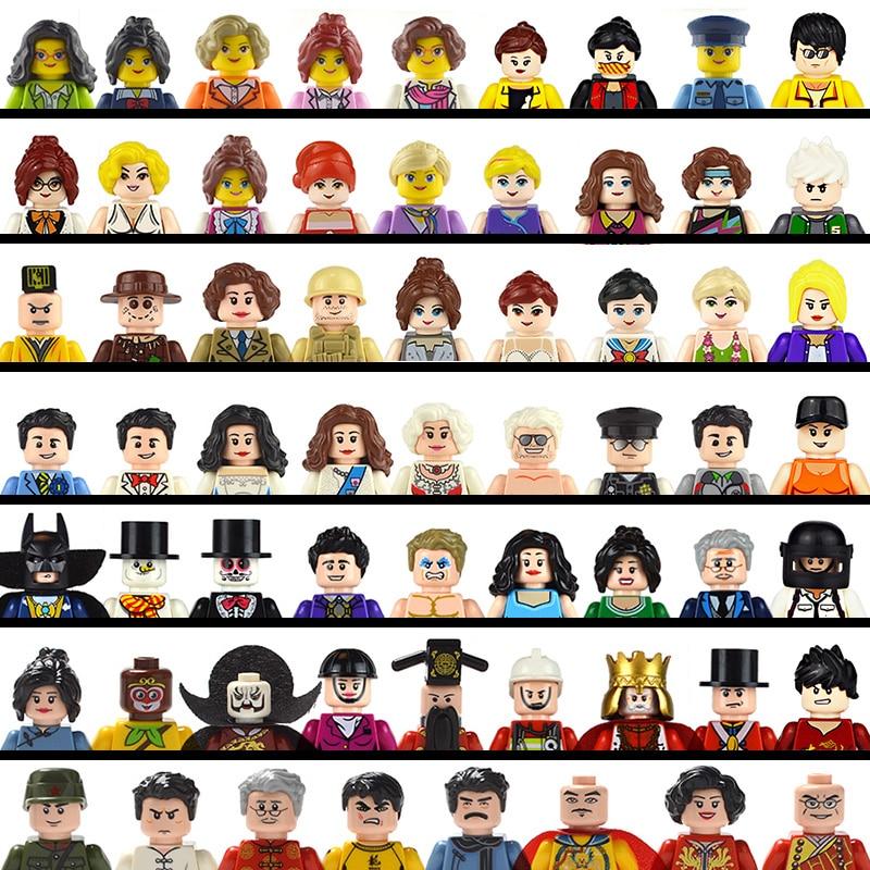 Cute Figure Block Toys Cute Cartoon Characters City Careers Girls Men Block Figure Children DIY Educational Collection Toys