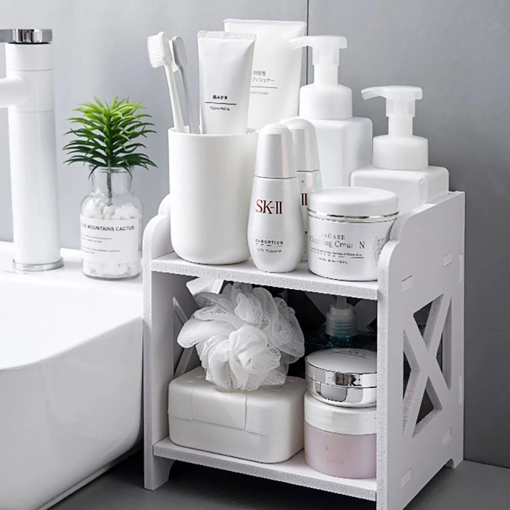 9 Layers Wood Storage Rack Cosmetic Storage Shelf Corner Racks Holder  Kitchen Bathroom Organizer Tabletop Decor