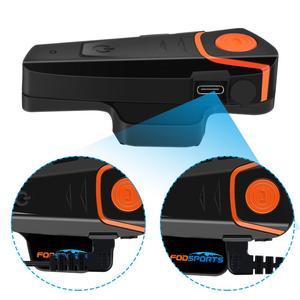 Image 5 - Fodsports BT S2 Pro Motorcycle Intercom Helmet Headset Wireless Bluetooth Waterproof Interphone Intercomunicador Moto FM