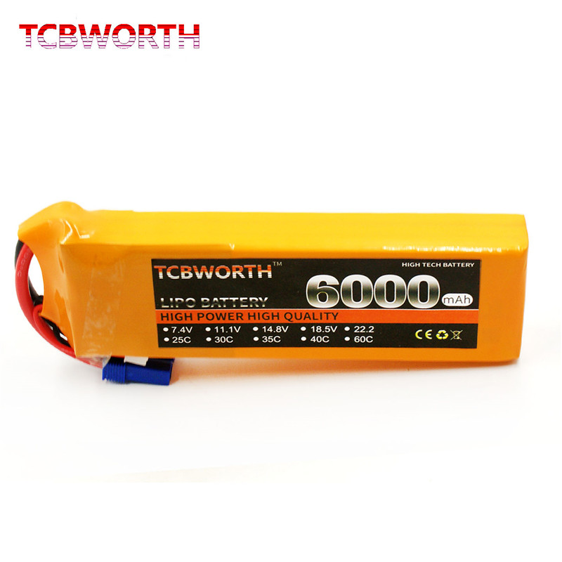 3s RC LiPo Battery 11.1V 6000mAh 25C 35C 60C For RC Airplane Helicopter Quadrotor Car Boat Drone 11.1V RC Batteries LiPo 3S