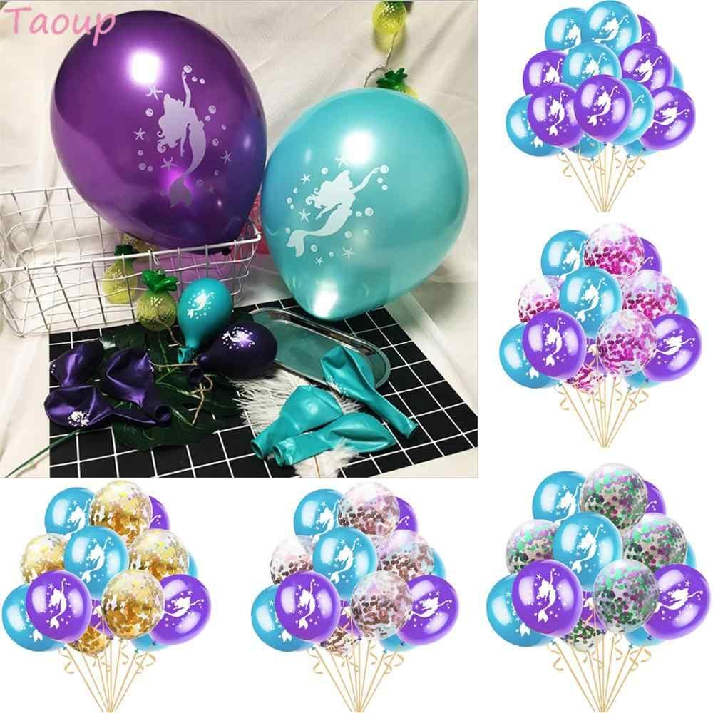Taoup 1 pieza de dibujos animados Arco Iris malla sirenita diadema princesa cola sirena fiesta Feliz cumpleaños Baby Shower decoración suministros