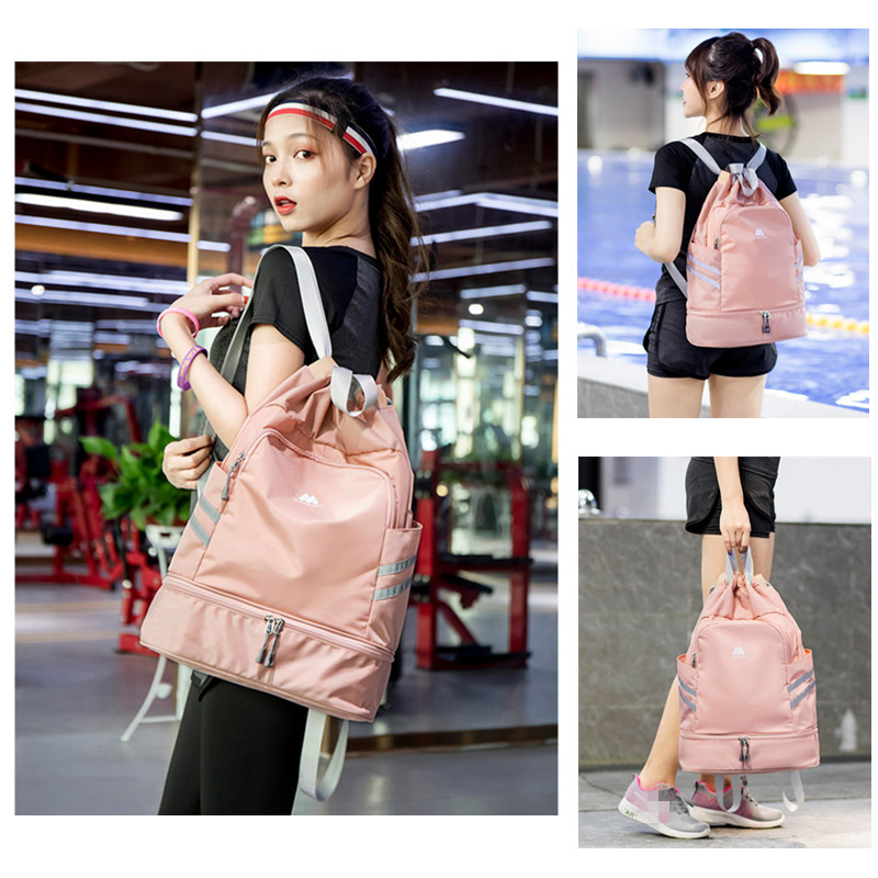 Dry Wet Waterproof Yoga Bags Gym Fitness Bag Swimming Backpack Sac De Sport Sports Shoulder Drawstring Gymtas For Women Rucksack