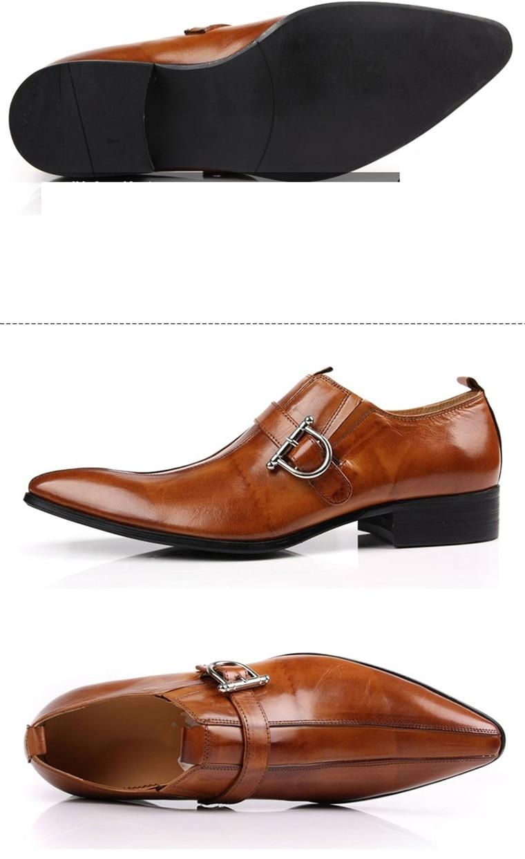 Estilo britânico apontado toe vestido sapatos de