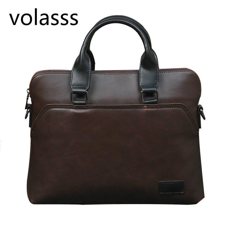 2020 New Men's Leather Briefcase Male Woman Laptop Bag For Men Messenger Briefcases Bolso Hombre Computer Bag Luxury Handbags